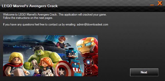 LEGO Marvel's Avengers crack
