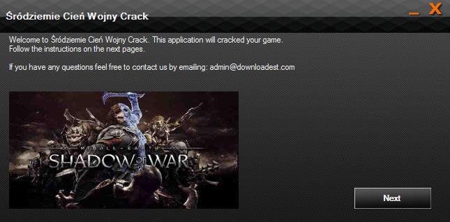 Śródziemie Cień Wojny crack